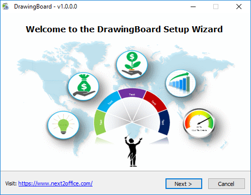 Install DrawingBoard Microsoft PowerPoint addin double click setup file to begin installation process